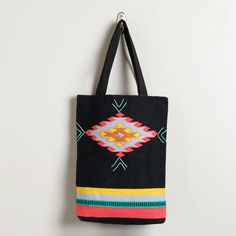 Black Southwestern Carpet Tote: saw this at the World Market yesterday and I'm still thinking about it. hmmm