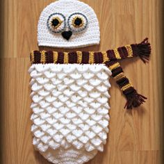 Hey, I found this really awesome Etsy listing at https://www.etsy.com/listing/502496793/crocheted-harry-potter-hedwig-baby-photo