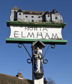 The village sign of North Elmham, Norfolk