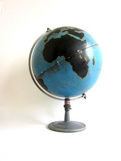 Vintage World Globe Project Military/ Industrial Denoyer-Geppert - # Globe Projects, Old Globe, Vintage Globe, Green Theme, Wall Street Journal, Cartography, Globes, Military, The Incredibles