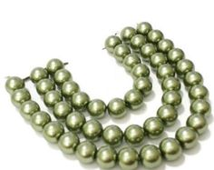 Green Pearl Beads / 8mm Olive Glass Pearl Beads / Green Glass Beads / Beads for Jewelry Making / Crafting Beads / DIY Craft / Olive Green by vickysjewelrysupply. Explore more products on http://vickysjewelrysupply.etsy.com