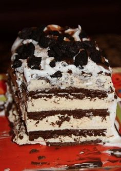 """NO BAKING REQD!! """"Ice Cream Sandwich cake that is to die for!!!"""""""