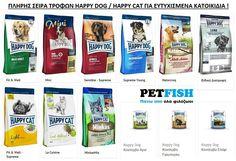 Διαθέσιμη στο eshop μας η πλήρης σειρά τροφών Happy dog και Happy cat για ευτυχισμένους σκύλους και γάτες !