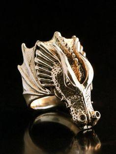 Dragon Ring Dragon Jewelry Valor Dragon Ring Bronze Dragon Wing Jewelry Dragon Costume Bronze Dragon Renaissance Costume Mens Ring Big Ring