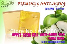 Apple stem cell antiaging silk facial Mask face mask 6 Pcs -- Click on the image for additional details.