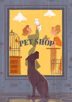 Dogs by Taya Strizhakova, via Behance