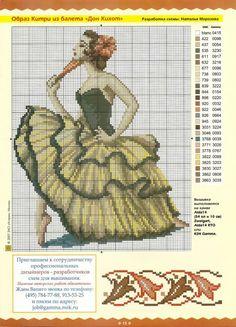 Cross stitch flamenco