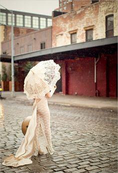 lace wedding parasol