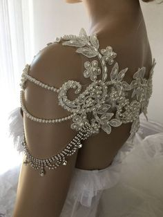 EXPRESS SHIPPING Pearl Bridal Dress Shoulder Necklace