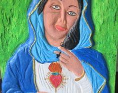 Quadro em Madeira - Nossa Senhora