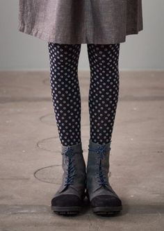 """Patterned """"Iris"""" nylon/spandex microknit tights – Accessories – GUDRUN SJÖDÉN – Webshop, mail order and boutiques 