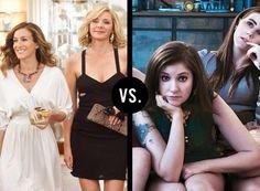 Sex and the City vs. Girls  Badass vs. badass.