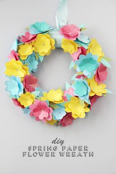 12 Diy Paper Easter Crafts And Decorations You'll Love intended for Ideal Easter Paper Crafts - Coloringside. Simple Paper Flower, Paper Flower Wreaths, Easter Wreaths, Diy Origami, Origami Egg, Diy And Crafts Sewing, Diy Crafts, Diy Spring Wreath, Spring Crafts