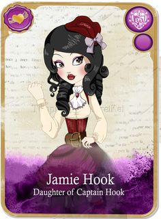 New Ever After High | Jamie Hook:. Ever After High oC card by Airinreika