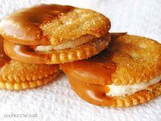 Cinnamon Sugar and Buttercream-Dipped Ritz