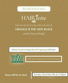 Meet the founder of HAIRiette Tanya Wright at Columbus Circle on Curly Hair Styles, Natural Hair Styles, Columbus Circle, Black Actresses, Orange Is The New Black, Holidays And Events, Holiday Recipes, Whole Food Recipes, New York City