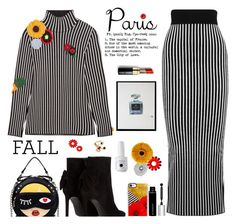"""""""Paris in Fall"""" by annbaker ❤ liked on Polyvore featuring Christopher Kane, Bobbi Brown Cosmetics, Casetify, Givenchy, Yves Saint Laurent, Home Decorators Collection, Etro, Certified International and fallgetaway"""