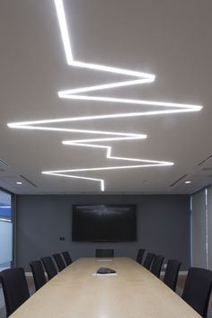 Dräger Canadian office, Lübeck Board Room. We designed this heartbeat #lighting fixture in collaboration with Selux.