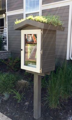 Our grass-roofed Little Free Library / Stapleton in Denver, CO #LittleFreeLibrary