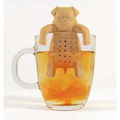 <p>Make your cuppa a bit cuter with the Pug-In-a-Mug Tea Infuser. Simply fill the silicone pug up with loose tea leaves, then hang him over the side of your mug and allow the flavours to infuse into the water for a few minutes. You won't be able to resist his adorable face staring back at you! - L.M.</p> <p><strong>Features:</strong></p> <ul> <li>Pug-In-a-Mug Tea Infuser</li> <li>Made of silicone</li> <li>Fill the pug with loose tea leaves, then hang him over the side of your mug and let the…