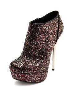 Metallic Heel Glitter Pump: Charlotte Russe