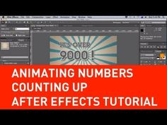 ▶ Animating numbers counting up in After Effects tutorial - YouTube REF