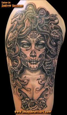 day of the dead medusa by ~asuss06 on deviantART