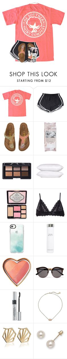 """land of the free, because of the brave"" by theblonde07 ❤ liked on Polyvore featuring NIKE, Birkenstock, Josie Maran, NARS Cosmetics, Too Faced Cosmetics, Eberjey, Casetify, Calvin Klein, Illesteva and Christian Dior"