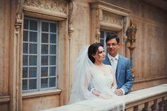 Wedding photo-shoot in famous Moscow restaurant Turandot