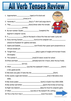 Nice Verb Tenses Worksheet High School that you must know, Youre in good company if you?re looking for Verb Tenses Worksheet High School English Grammar Tenses, Teaching English Grammar, English Grammar Worksheets, Verb Worksheets, English Verbs, School Worksheets, Printable Worksheets, All Tenses In English, Verbal Tenses