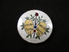 Stunning, Scarce French Revolutionary War Commemorative Buttons Enamel