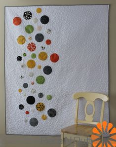 Fun pop of color nice, clean contemporary quilt.  Piece N Quilt: Skittles Goes to Quilt-Con