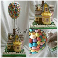 Marie's Bakehouse: How to make a 'floating' Up House Cake: Part 1