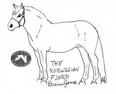 Fjord Horse Line Art sketch template