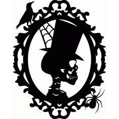 Silhouette Design Store - View Design #50114: halloween skeleton profile frame