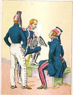 Lanciere, operaio e sergente del cavalleggeri polacchi della guardia imperiale francese