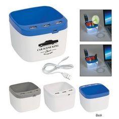 febbb6289b4a USB Desk Caddy - CUSTOMIZE LOGO Cool Gifts
