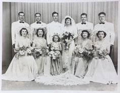 1947 Family Wedding Photograph. www.marianneperry.ca