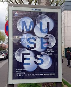 """""""Nuit européenne des Musées"""" - Mairie de Paris - Samedi 21 Mai 2016 - Design Graphique : Des Signes studio Muchir Desclouds - Paris, 2016"""