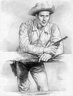 Clint Walker 'Cheyenne' by AbdonJRomero on DeviantArt Tarzan, Clint Walker, License Plate Art, Cowboy Pictures, Tv Westerns, Old Movie Stars, West Art, Celebrity Drawings, Cowboy Art