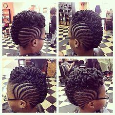 Hair style Natural Braid Styles, Natural Hair Braids, Natural Hair Updo, Braids For Black Hair, Curly Hair Styles, Braided Mohawk Hairstyles, Protective Hairstyles For Natural Hair, African Braids Hairstyles, Braided Updo
