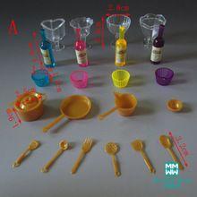 22 pçs/lote Mini Brinquedos Louças Comida Garrafas Xícaras de Chá de Cozinha acessórios para BJD doll house acessório jogo de Jantar brinquedo(China (Mainland))