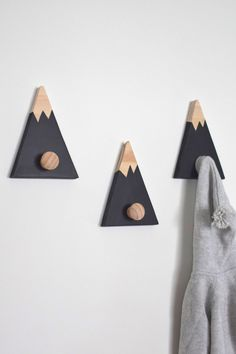 Woodland mountain themed baby boy nursery The post Wall Hooks for Kids Mountain Wall Hook Mountain Peak Coat Hook Adventure Nursery Decor Woodland Nursery Decor Mountain Nursery Decor appeared first on Children's Room.