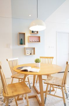 Modern Scandinavian Dining Interior Apartment In Jakarta Indonesia Design By Vindo And