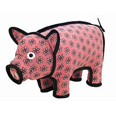 Tuffies Barnyard pig-shaped dog toy. Our dogs tend to use this as a pillow.