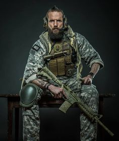 Landon Steele. Yes that is his name. Combat Medic Veteran with a heart of gold #Uniform #Beard