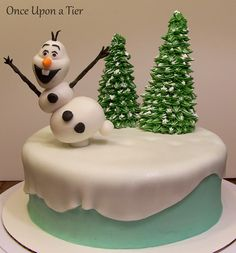 Once Upon a Tier: Olaf Cake (Rachel's Birthday Cake)