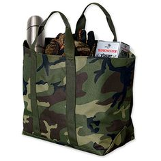 twist on a classic - the classic L.L. Bean tote in camouflage