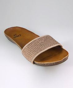 Take a look at this Gold Maritza Slide by GC Shoes on #zulily today!