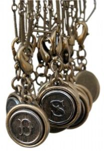 Initial charm by @classiclegacy vintage inspired jewelry.